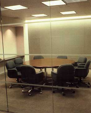 Graphs show how often conference rooms of a particular size were being used by the client.